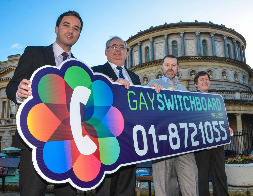 Ireland's Oldest LGBT Support Service, Gay Switchboard 40th year in service with Minister for Communications, Pat Rabbitte, TD