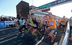 Start of Race at Rock N Roll Half Marathon Dublin