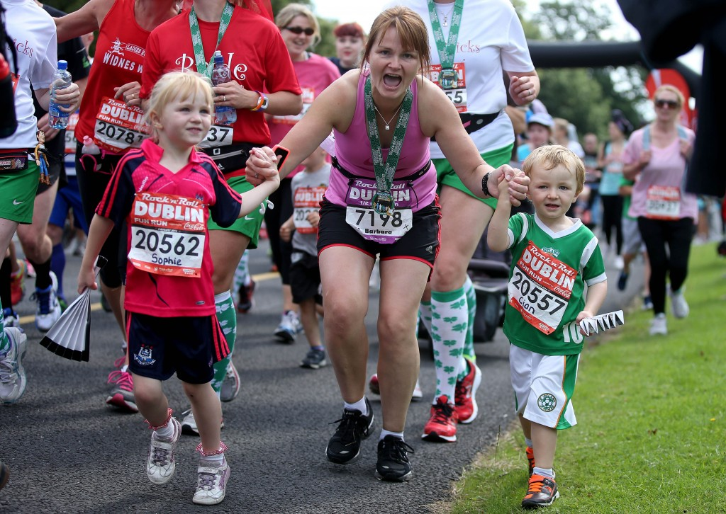 Family  Fun Running Rock n Roll Half Marathon Dublin